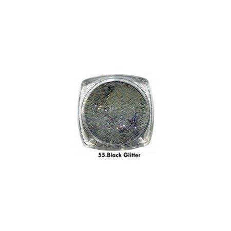 Akryl kolorowy 3,5g, Black Glitter 55