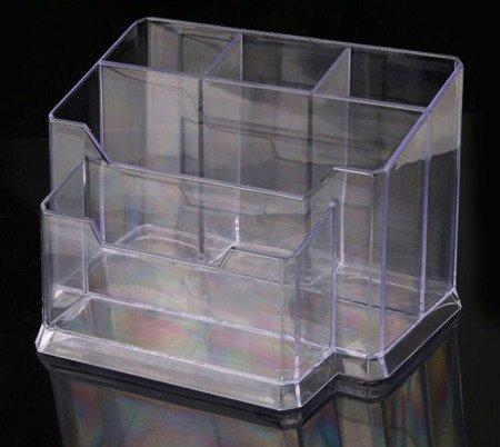 Organizer akrylowy na kosmetyki, pędzle, akcesoria